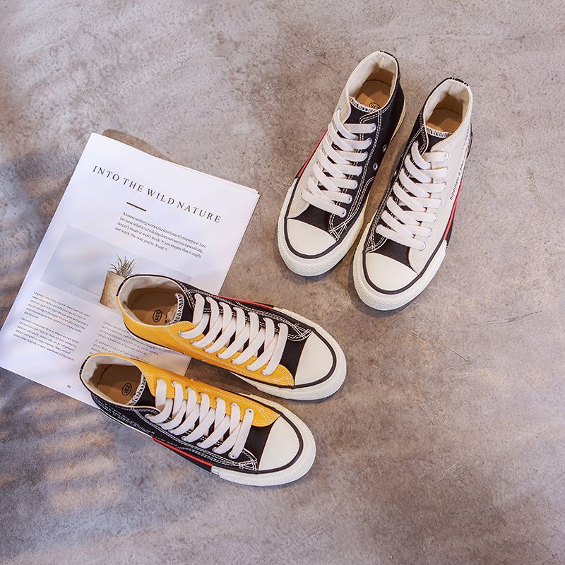 Athletic high top ladies canvas shoes