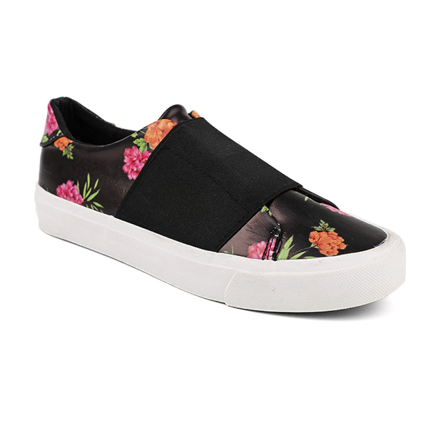 Printed slip on woman's sneakers