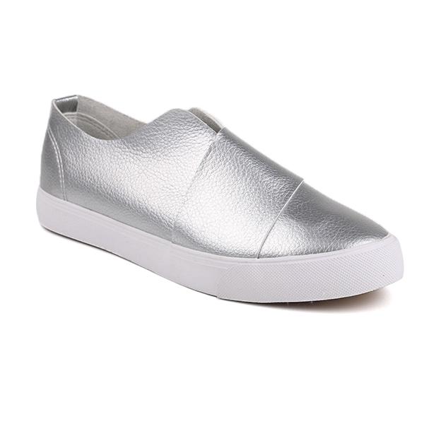 Plain slip on woman's sneakers