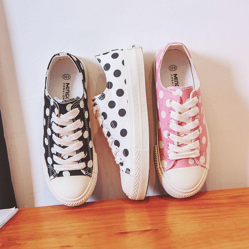 Top sale lace up ladies canvas shoes