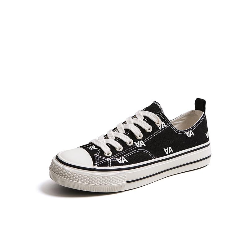 Comfortable lace up ladies canvas shoes