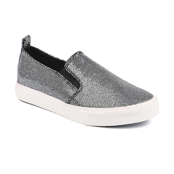 Glitter slip on woman's sneakers