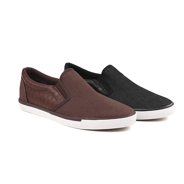 Canvas low cut man's slacker shoes