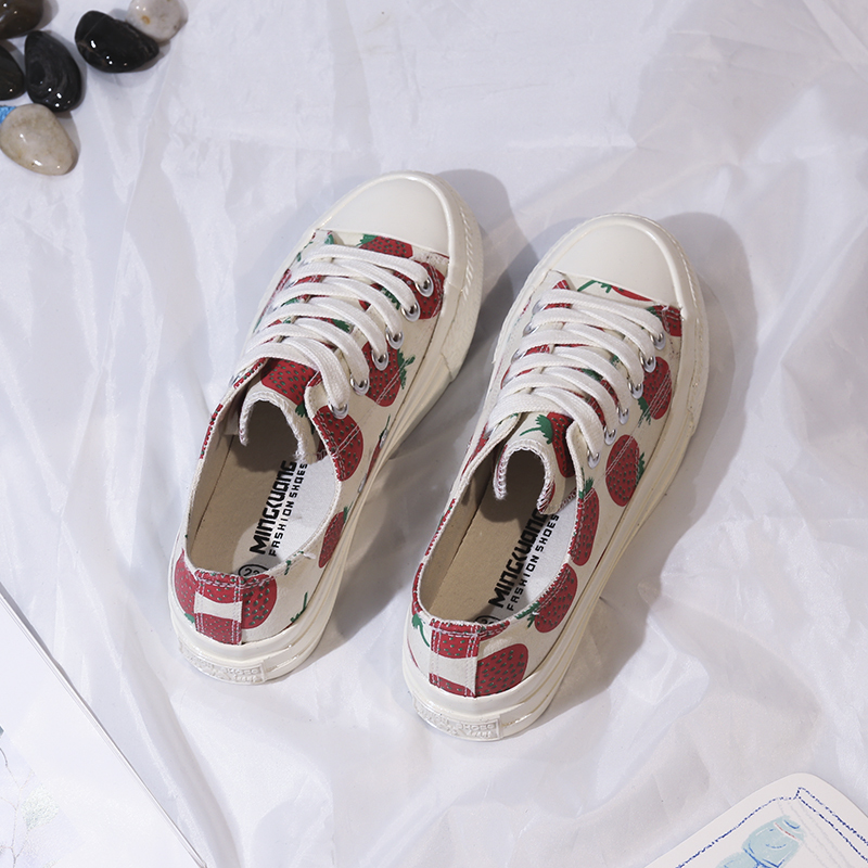 Latest lace up ladies canvas shoes