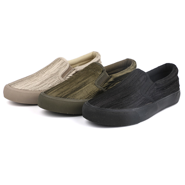 Fabric slip on woman's sneakers