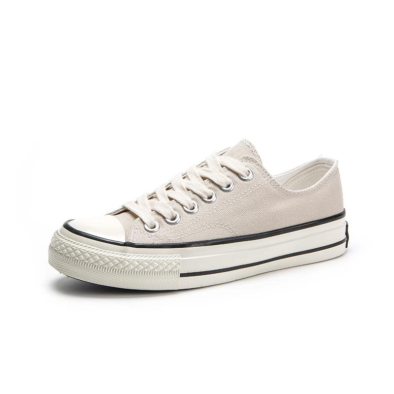 Custom lace up ladies canvas shoes