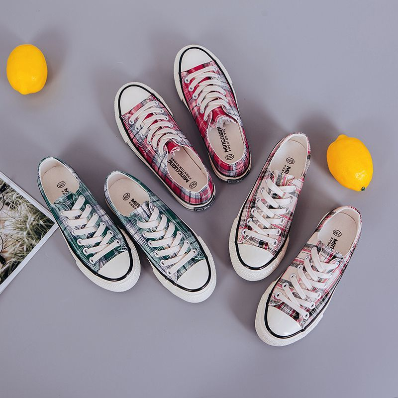Georgia lace up ladies canvas shoes