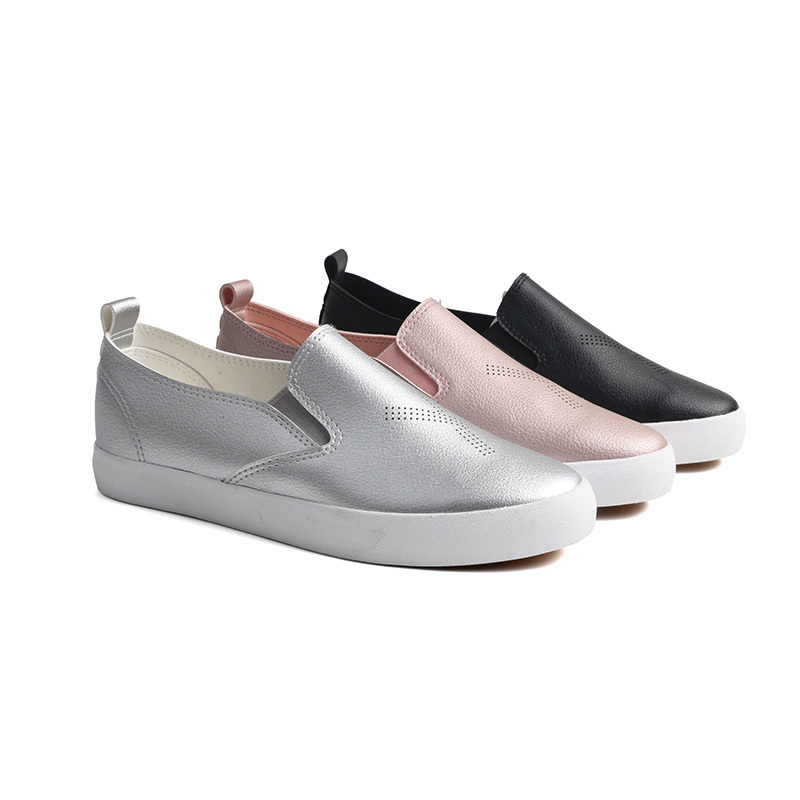 PU leather no lace girl's school shoes