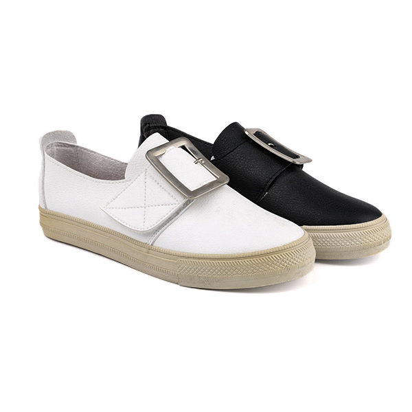 Rubber no lace girl's school shoes