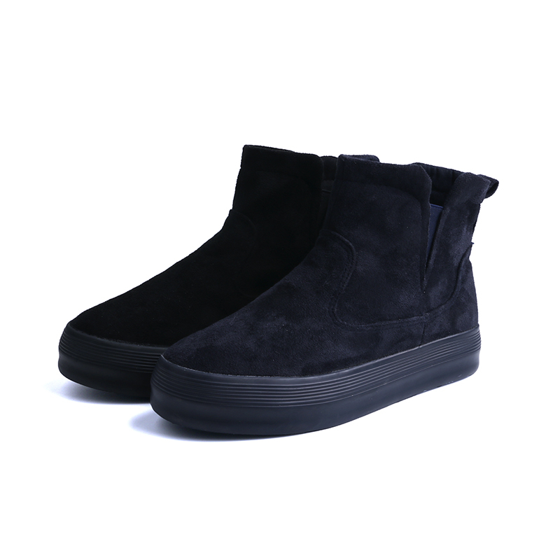 Velvet high-top girl's school shoes