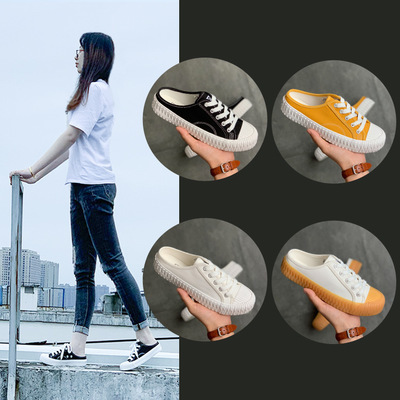 New arrival lace up ladies canvas shoes