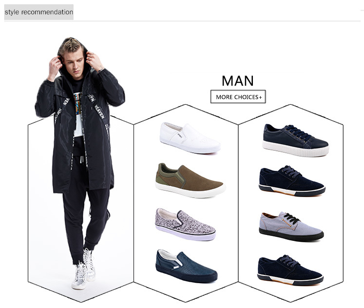 beautiful black canvas shoes mens factory price for travel