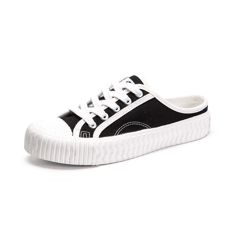 Canvas with lace girls vulcanized shoes