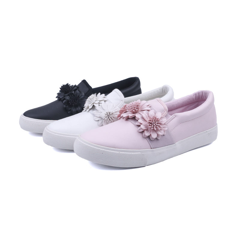 Athletic no lace girl's school shoes