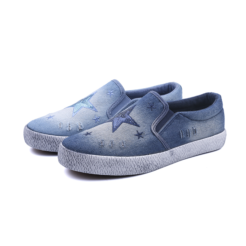 Jeans low cut lady casual shoes