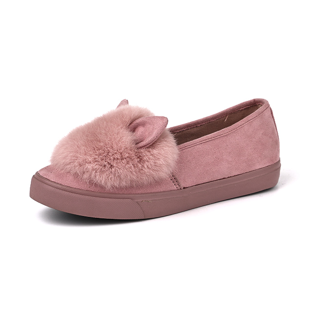 Warm low cut lady casual shoes