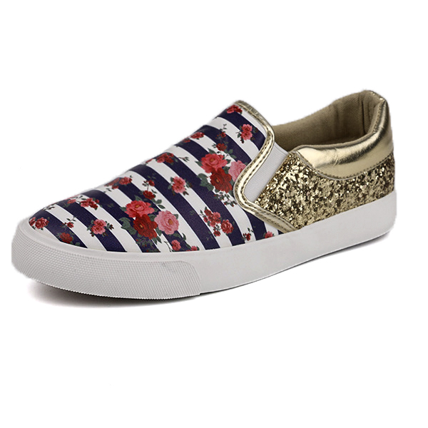 Paintable low cut lady casual shoes