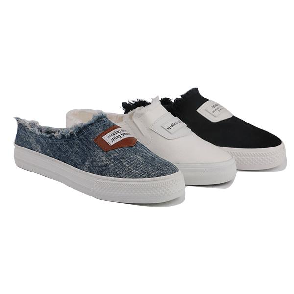 Denim low cut lady casual shoes