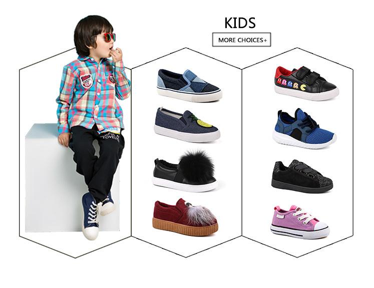 King-Footwear leisure black canvas sneakers on sale for kids