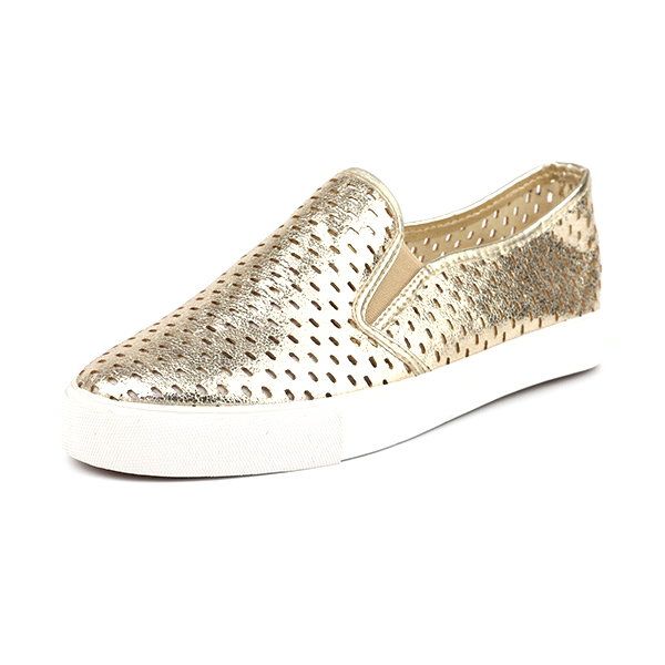 Laser hole low cut lady casual shoes
