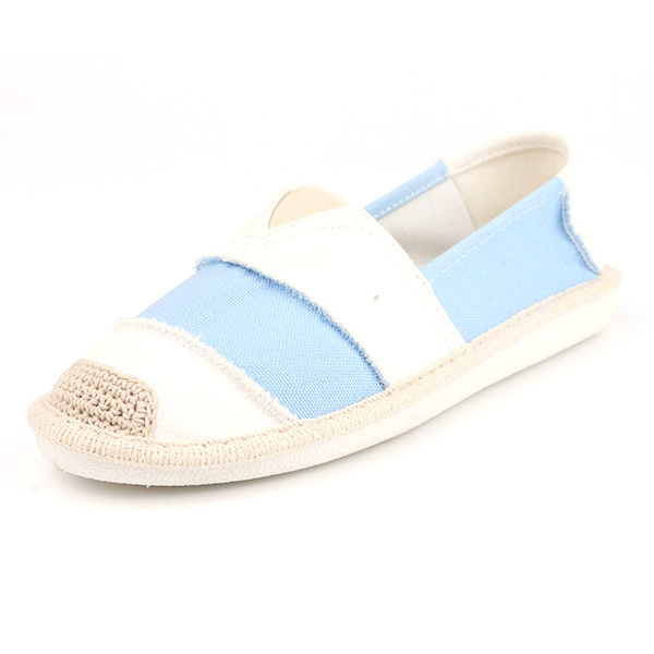 Linen low cut lady casual shoes