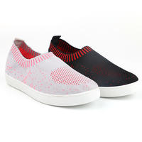 Woven low cut lady casual shoes