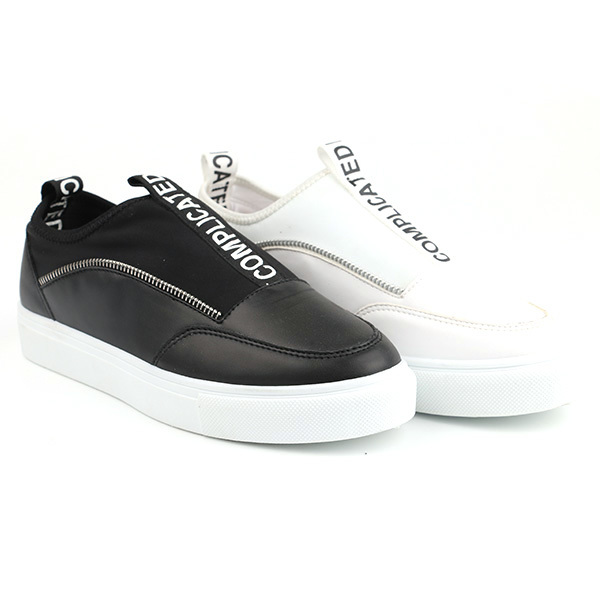Plain low cut lady casuals shoes