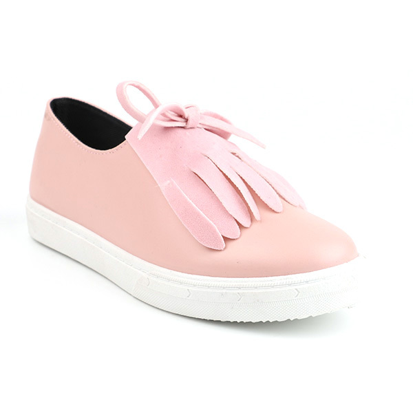 Artificial leather low cut lady casual shoes