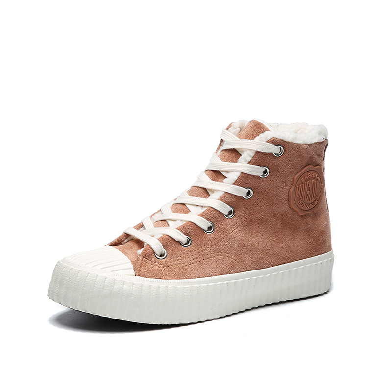 Imitation suede high top ladies cycling shoes