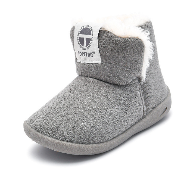 Imitation suede high top baby gym shoes