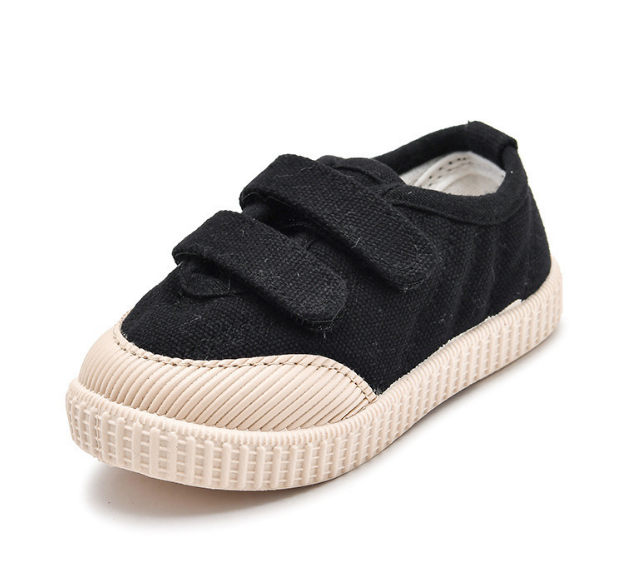 Canvas buckle strap baby gym shoes