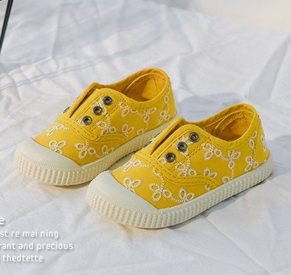 Fabric slip on baby gym shoes
