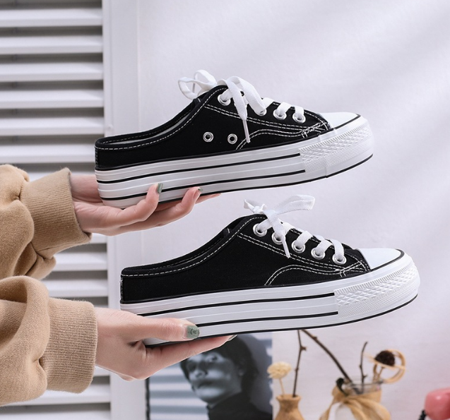 High outsole lace up woman playshoes