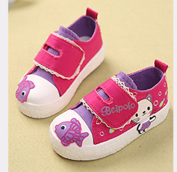 Fresh buckle strap baby casual shoes