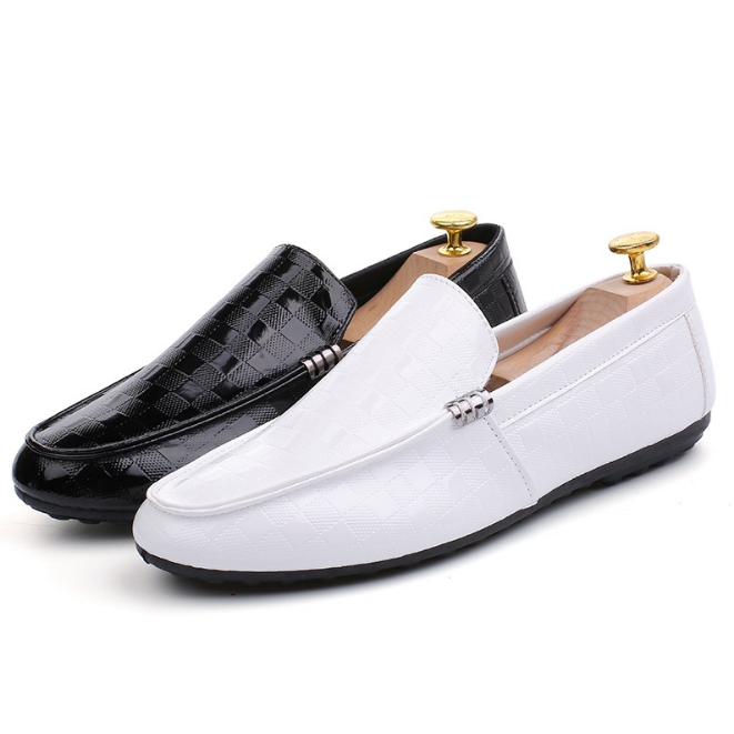 PVC man slip on casual shoes