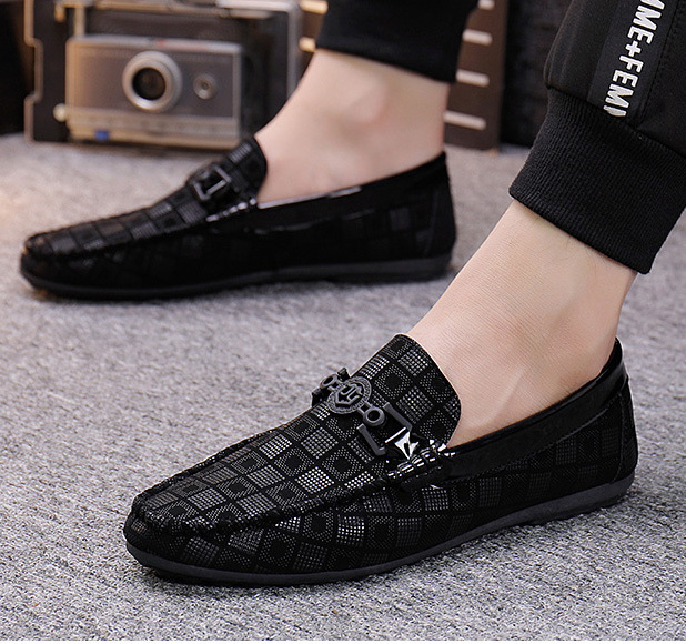 Canvas man slip on casual shoes