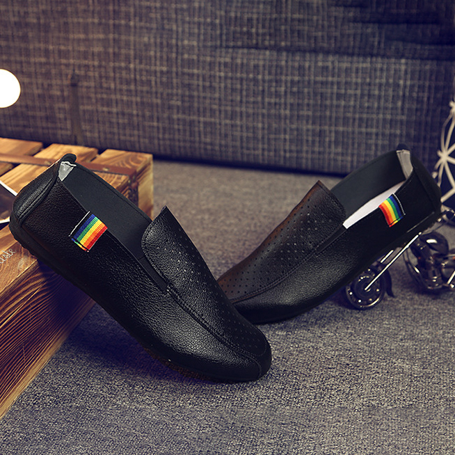 Breathable man slip on casual shoes