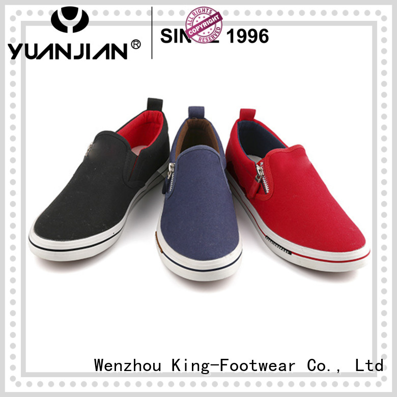 King-Footwear hot sell mens canvas shoes cheap promotion for daily life