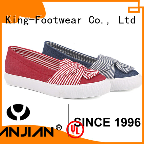 King-Footwear printed canvas shoes factory price for daily life