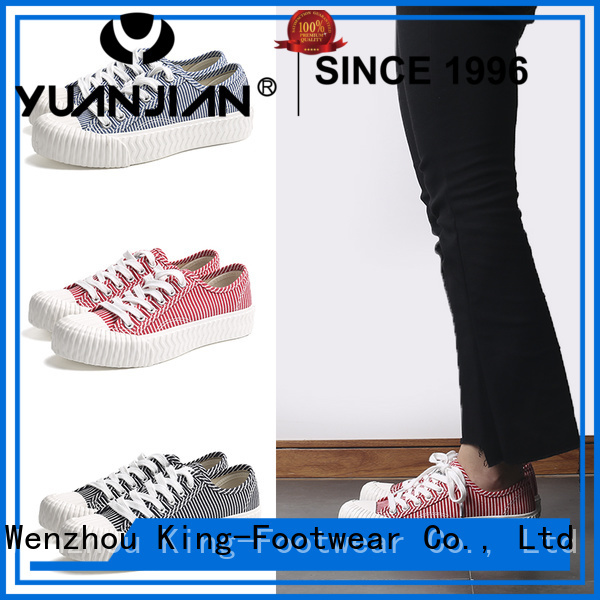 King-Footwear durable black canvas shoes manufacturer for working