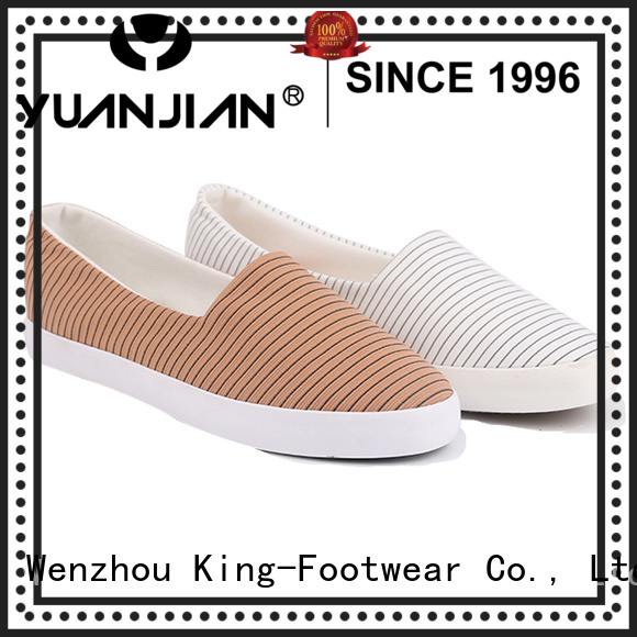 King-Footwear mens canvas slip on shoes factory price for travel