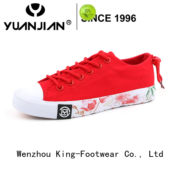 King-Footwear black canvas sneakers wholesale for kids