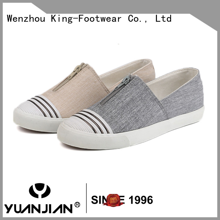 King-Footwear black canvas shoes promotion for travel