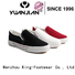 King-Footwear denim canvas shoes factory price for school