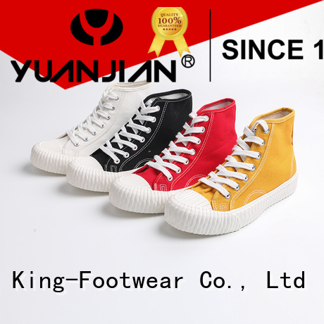 King-Footwear beautiful denim canvas shoes promotion for daily life
