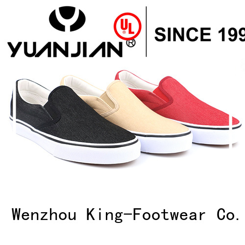 King-Footwear durable canvas slip on shoes manufacturer for working