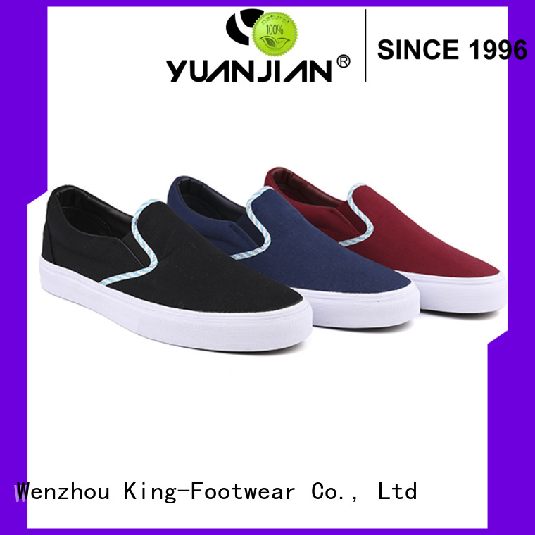 King-Footwear hot sell canvas slip on shoes wholesale for daily life