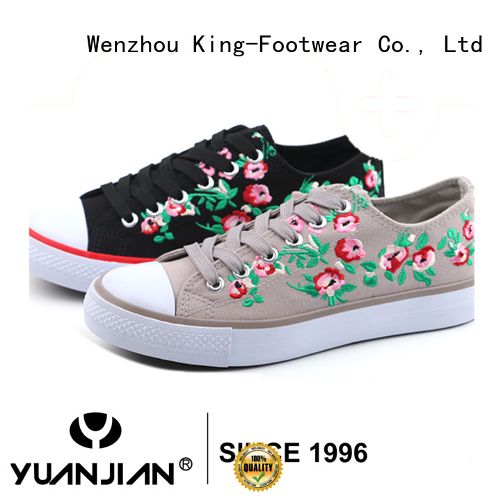 King-Footwear good quality female canvas shoes for working