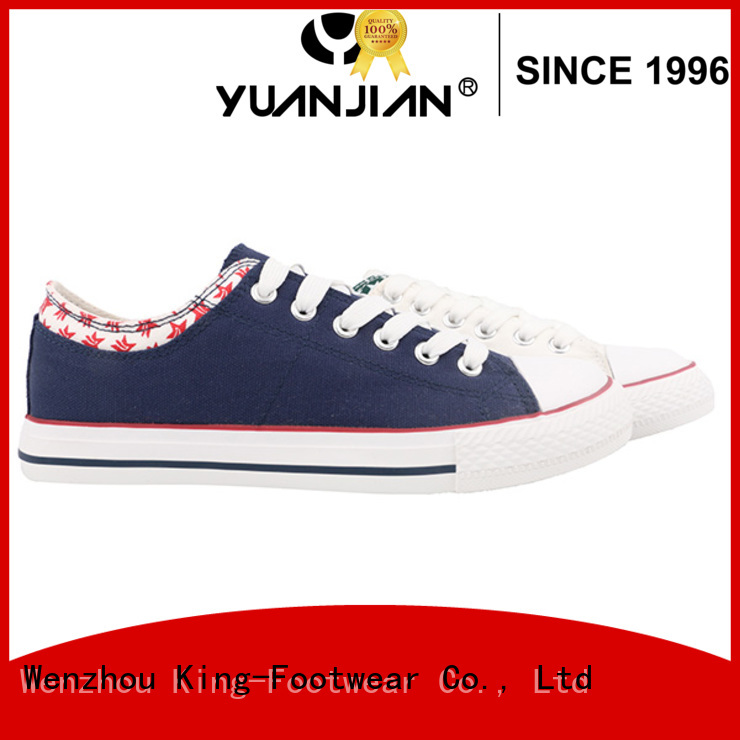 King-Footwear womens canvas trainers manufacturer for travel