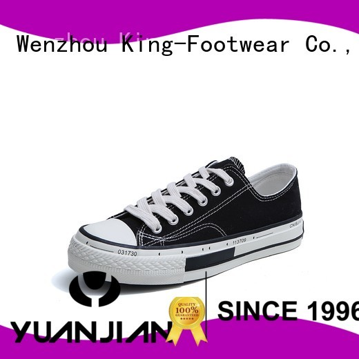 King-Footwear durable black canvas shoes mens wholesale for working